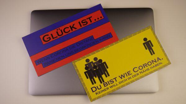 Postkarten Set Corona Edition Grußkarten