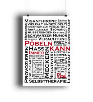 Pöbeln Poster Statement Piece Deko