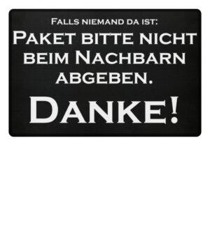 Haustür Fußmatte Spruch lustig gemein