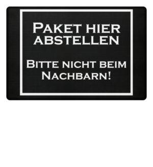 Paket hier abstellen! - Fußmatte-16