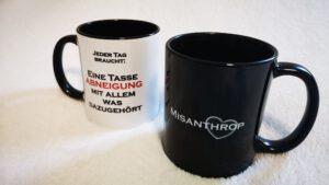 Tassen mit lustigen Sprüchen für Arbeit und Büro