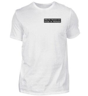 Hass im Herz Statement Shirt Spruch