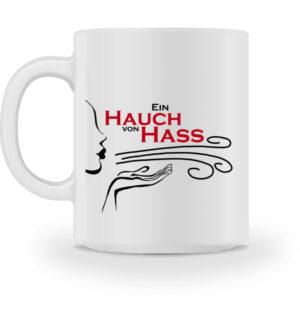 Tasse mit lustigem Motiv Hass
